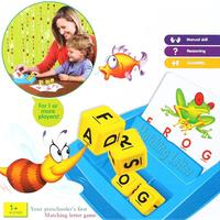 Children Alphabet Puzzle Game Card English Alphabet Letters Learning Toys Vocabulary Word Picture Match Game Educational Toys