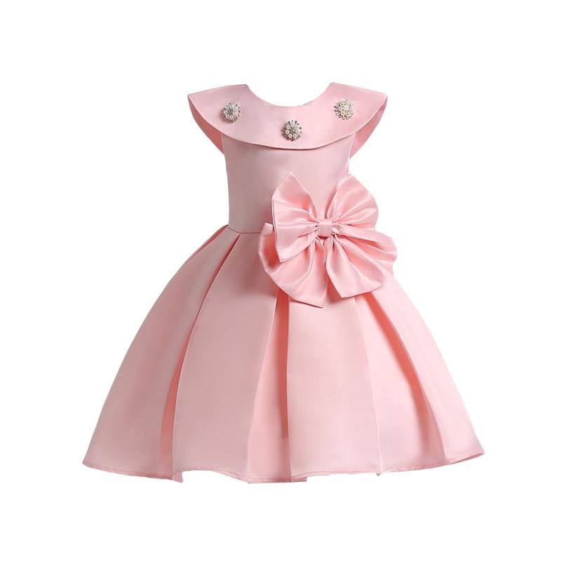 2018 nueva marca bebé Niñas Vestidos verano princesa Girl ropa del bowknot  sin mangas vestido de fiesta niños ropa para 3-10 años 41cf4e5131d0