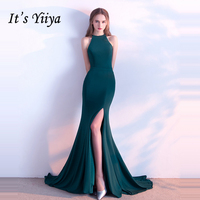 It's Yiiya Elegant Evening Dresses Sleeveless Fashion Designer Mermaid 2018 Formal Dress for Party Contrast Color LX759
