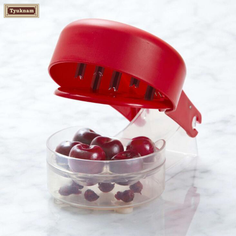 Cherry Olive Pitter, Cherry Seed Stone Remover, Removal Bone 6 Cherries Fast...