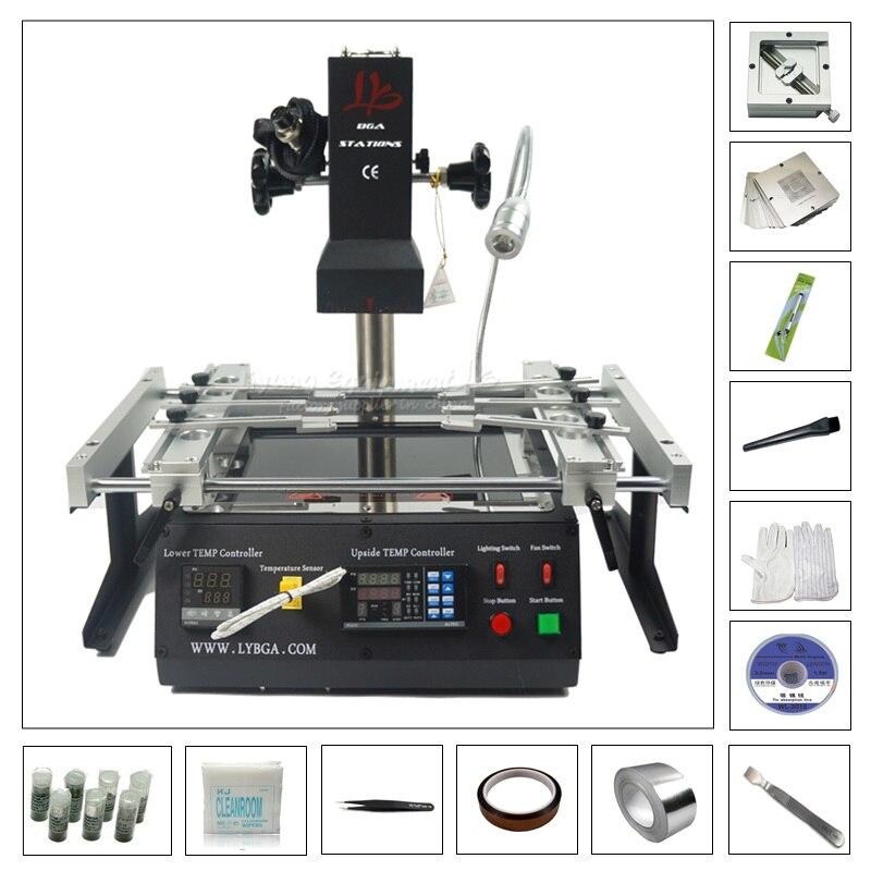 LY BGA estação de retrabalho com 80 IR6500 mm 90mm stencil 184 pcs pack kit