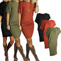 Sexy Women's Summer Casual Short Sleeve Party Cocktail Short Mini Dress