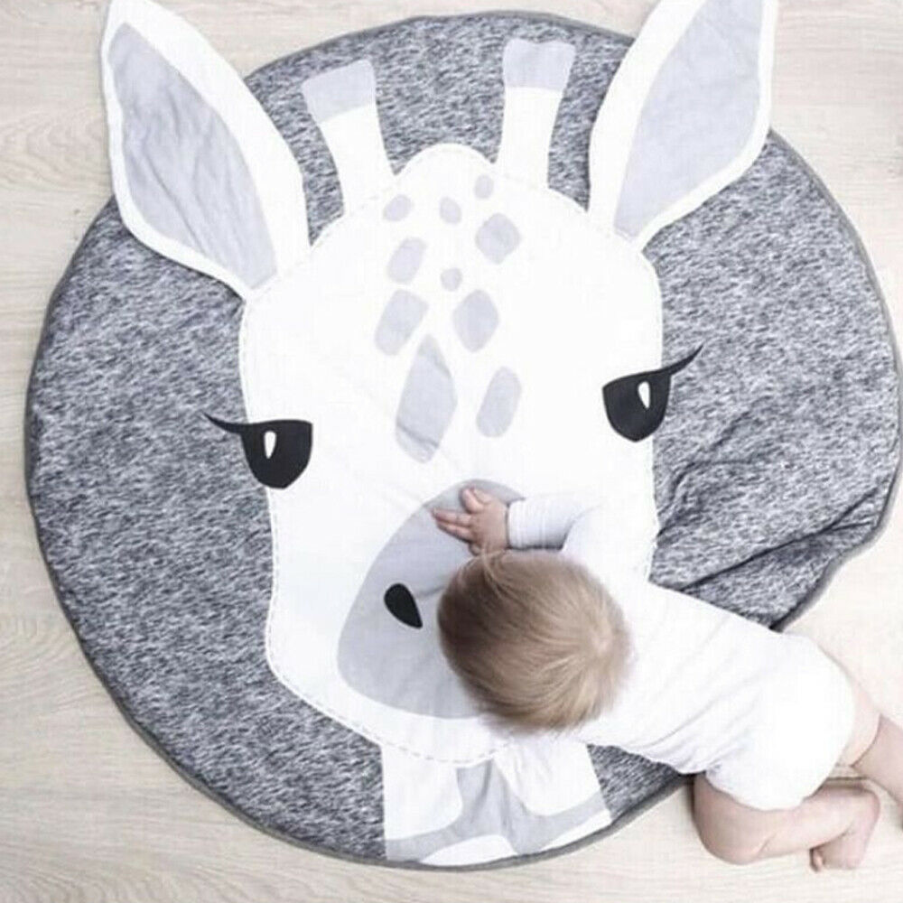 Plus Size Soft Cotton Newborn Baby Gyms Mat Playmats Infant Thick Cushion Kids Floor Rug Crawling PlayMats