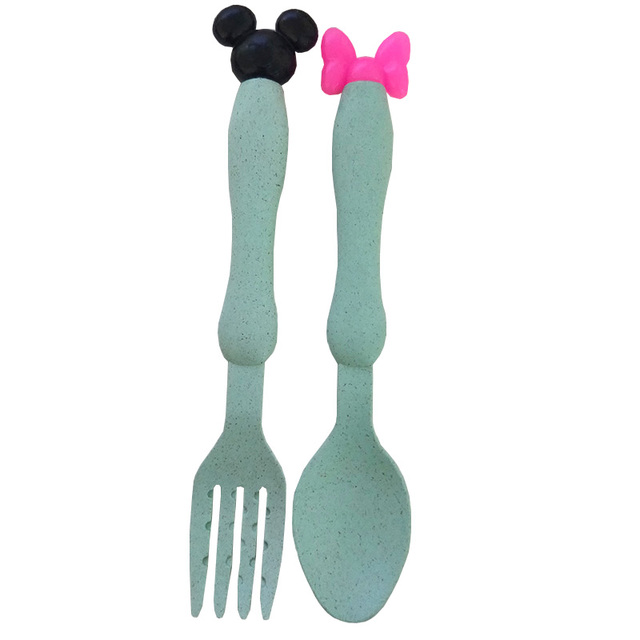 fork and spoon green