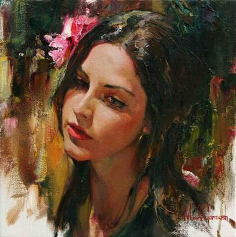 Hand painted Oil Painting Top Quality Beauty Detail Lady Portrait ...