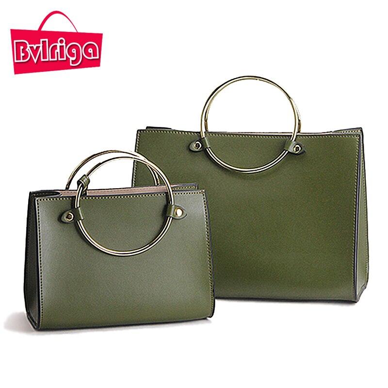 BVLRIGA Women Handbags Genuine Leather Bags Handbag Ladies Shoulder Bags Luxury
