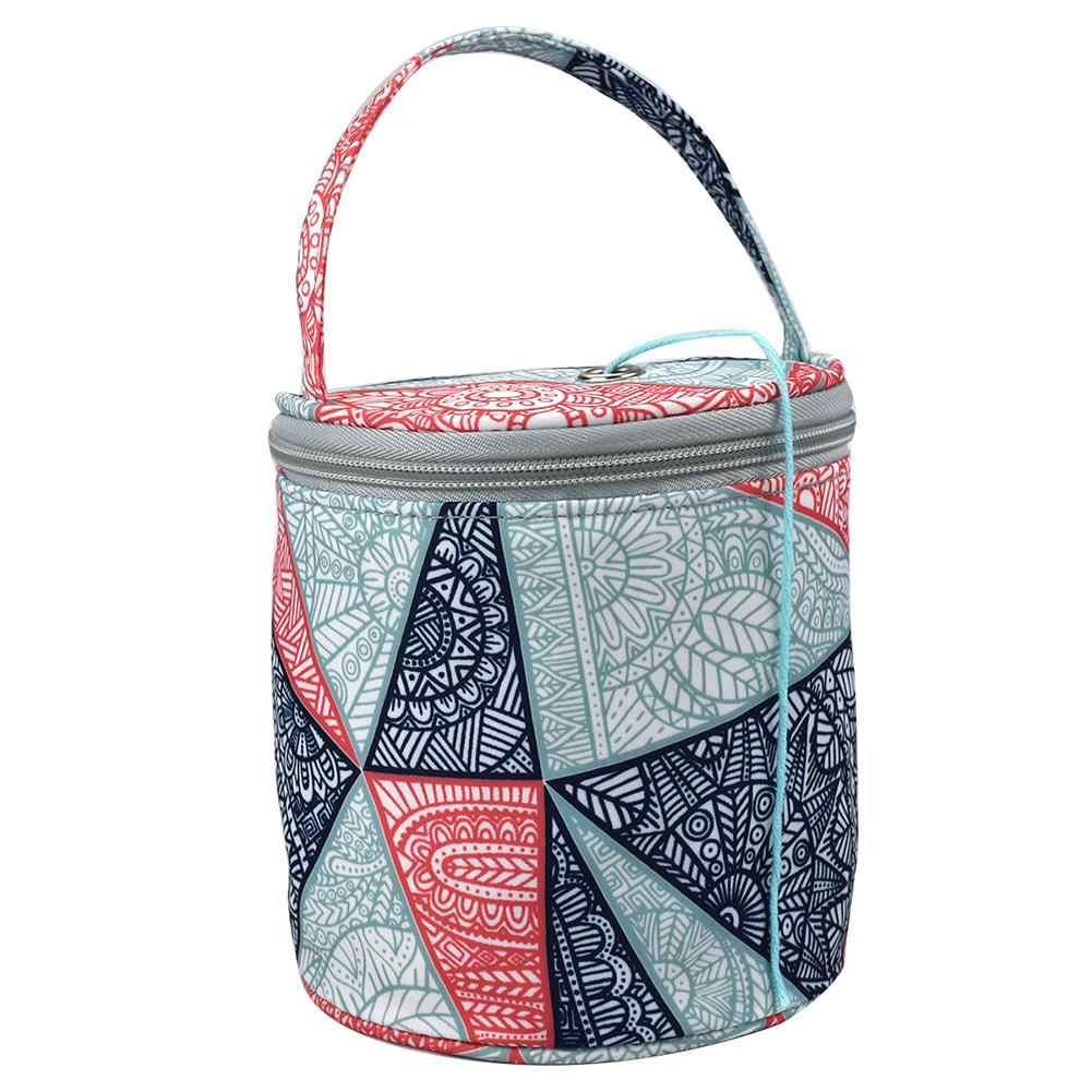 Сплетенные сумки ткань Оксфорд домашний повседневный шерстяной вязанный швейный игольчатый инструмент для плетения Сумка-тоут швейный Органайзер связанная крючком сумка