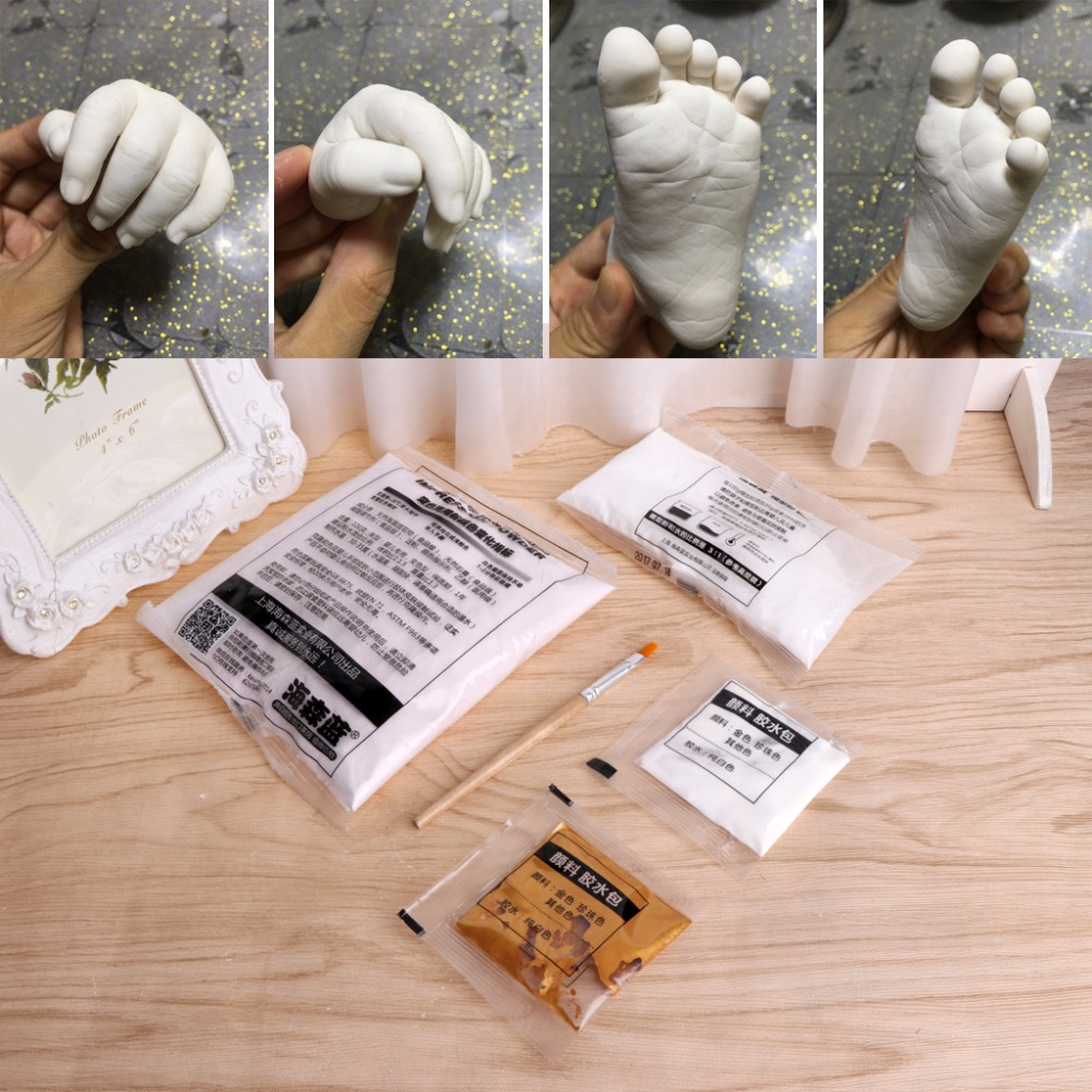 Hot Sell 3d Plaster Handprints Footprints Baby Kids Adult Hand Foot Casting Kit Keepsake #1
