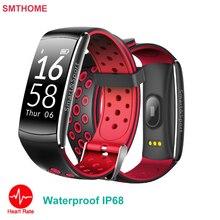 Q8 сердечного ритма умный Браслет Водонепроницаемый Открытый спортивные часы с несколькими Фитнес трекер для iPhone Android вызова SMS напоминание