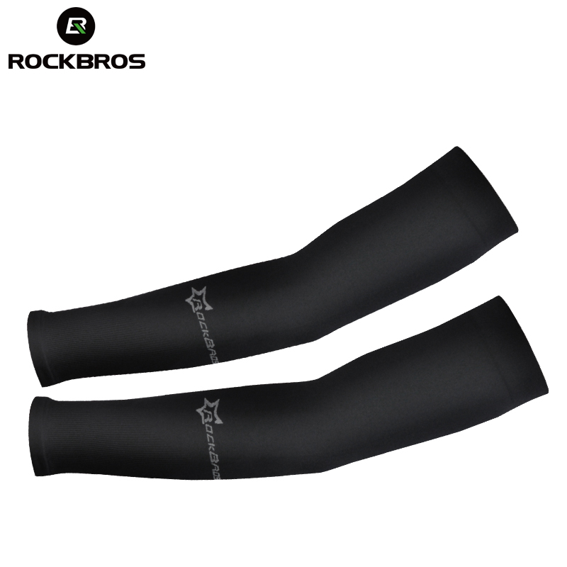 running - ROCKBROS Ice Fabric Running Arm Warmers UV Protect Arm Sleeves Basketball Camping Riding Outdoors Sports Wear Protective Gear