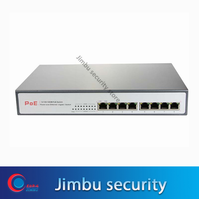 8 Ports POE Switch POE33008P 10/100/1000 Mbps Gigabit Switch Work With Video Recorder Power Supply