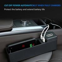 Multi functional Car Seat Gap Storage Box 2 USB Wireless Charging For BMW F10 F20 F15 F16 F25 F26 F30 F32 F34 F45 F48 G11 G30