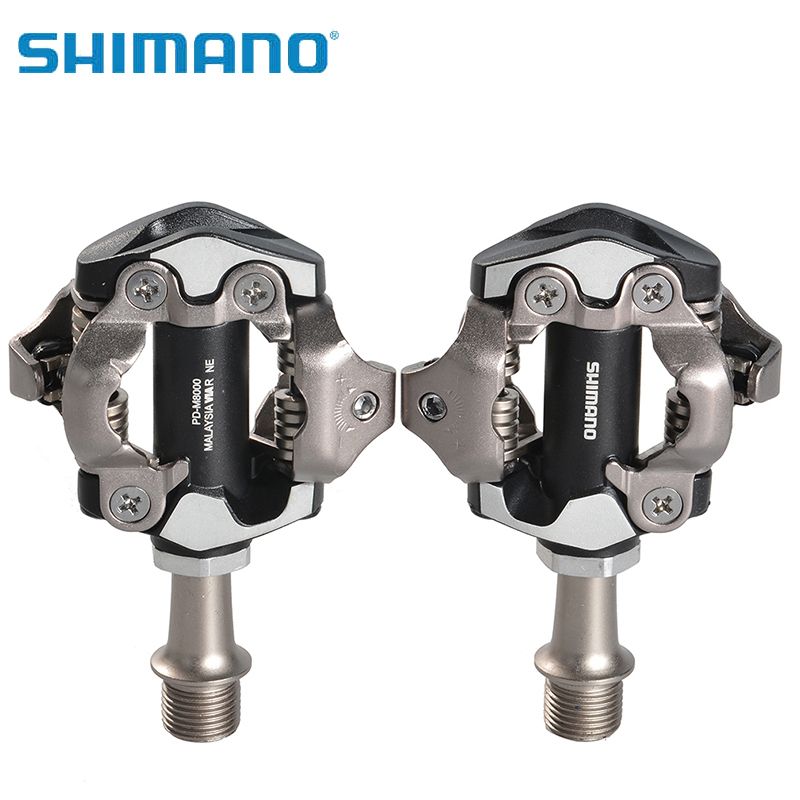 SHIMANO PD-M8000 Mountain/Road Bike Bicycle MTB Aluminum Alloy Bike Bicycle Pedals Foot 's Top Ultralight Self-locking Pedal стоимость
