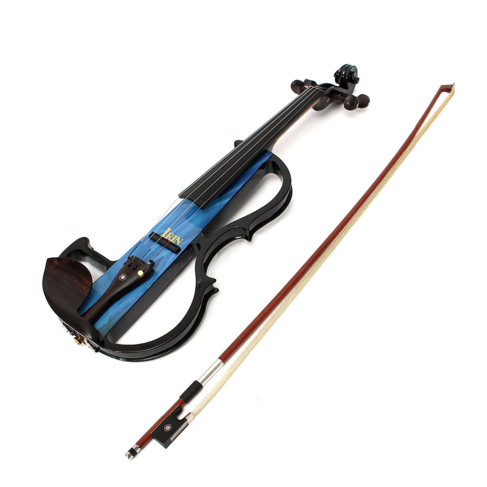IRIN 4/4 Electric Violin With Bow Rosin Carry Case Earphone For Beginner handmade new solid maple wood brown acoustic violin violino 4 4 electric violin case bow included