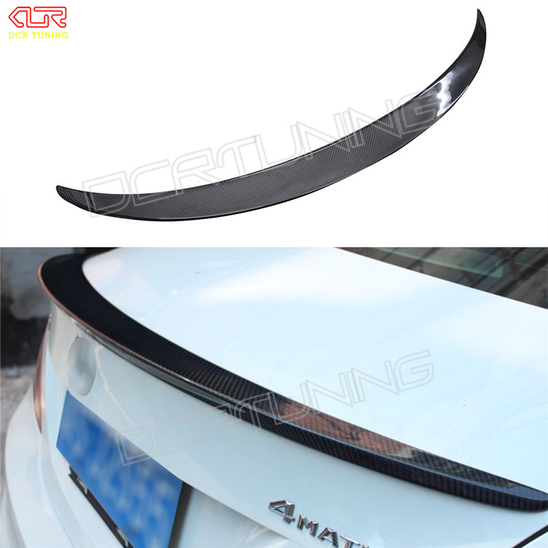 For Mercedes CLA Spoiler CLA45 W117 C117 Carbon Fiber Rear Trunk Wings Spoiler cla 200 250 260 2013 2014 2015 2016 - UP carbon fiber car side mirror cover for mercedes benz cla class c117 2013 2014 2015 2016