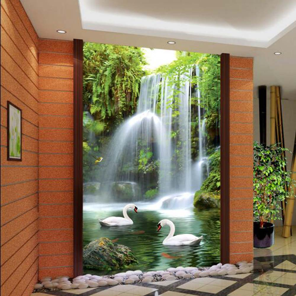 3D Entrance Waterfall Photo Wallpaper Mural Wallpapers for Living Room  Bedroom 3 d Wall Paper MuralsOnline Get Cheap Waterfall Entrance Wallpaper 3d Mural  Aliexpress  . Living Room Waterfall. Home Design Ideas