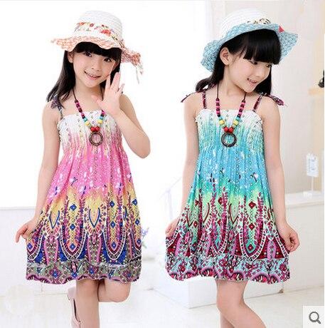 2016 europestyle girls summer slip dress childrens wear