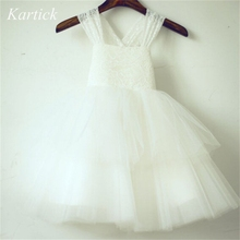 2015 New Arrival Flower Girl Dresses with Bow Wedding Party Dress Princess Pageant Dress for Little Girls Kids/Children Dress 2018 new arrival children princess dress for party wedding flower girls dress sequin ruffles lace kids dresses for girls
