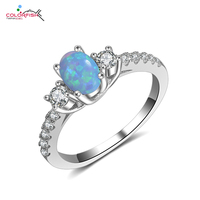 Sterling Silver Oval Cut Australia Fire Opal Ring For Women Fashion Jewelry Wedding Engagement Anniversary Promise