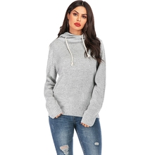 Knitted Sweater Women winter tops Hooded Knitting Pullover Casual Coat Knitwear Streetwear Sweaters autumn ladies jumper Pull