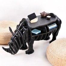 Творческий Nordic Украшения Европейской моды творческие художественные ремесла деревянные Украшения Дома Австралийский носорога стол милые сувениры подарок