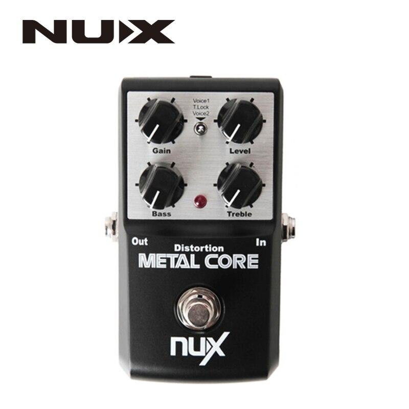 NUX Metal Core Distortion Pédale D'effet True Bypass Guitare Effets Pédale 2-Band EQ Tone Lock Fonction Prédéfinie