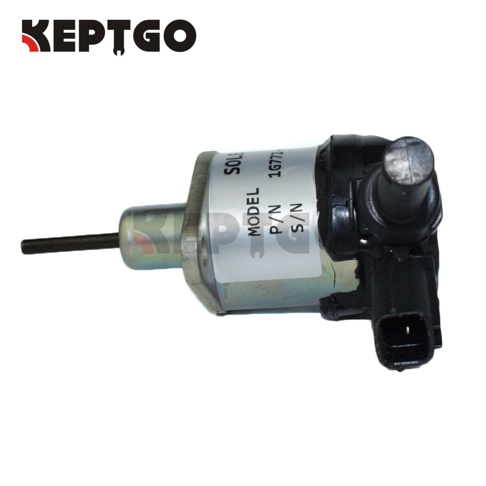 Fuel Stop solenoid 12v 1G772-60012 1G772-60014 1G772-60010 For Kubota M6040 M7040 SVL75 M5040 U5S for kubota fuel shut off solenoid 16851 60010 16851 60014 052600 4531 for denso b7410d bx1500d bx1800d