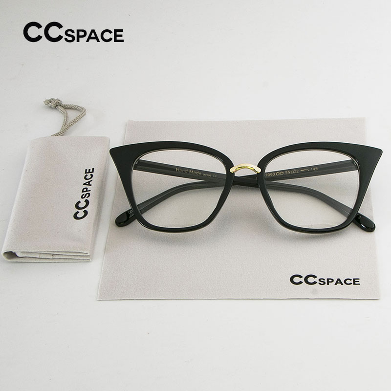 SU135 Cat Eye Women Eyeglasses Spectacle Frames Glasses Classic Brand Designer Black Frame Metal Rivet Ladies Eyewear
