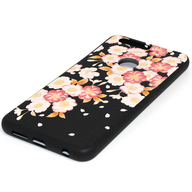 3D Relief flower silicone case huawei honor 8 (34)