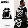 Off white hombres heybig tee de manga larga f/w patineta tops 2016 nueva hip hop americano camisetas diagonales impreso clothing tamaño cn