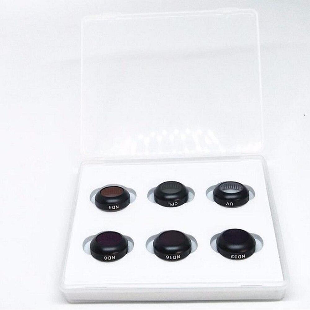 6 шт. УФ CPL ND4 ND8 ND16 ND32 набор фильтров Многофункциональный фильтр для DJI Mavic Pro Дрон Квадрокоптер - 2