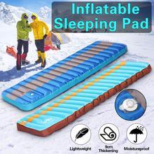 Ultralight Outdoor Air Mattress Moistureproof Inflatable TPU Camping Mat Sleeping Pad Tent Bed