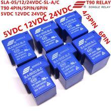 Реле Songle T90 SLA-05VDC-SL-C SLA-12VDC-SL-C SLA-24VDC-SL-C 5 В, 12 В, 24 В постоянного тока, 6PIN T90 1CO реле абсолютно и