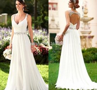 Vestidos De Novia Sexy Beach Chiffon Dress Boho Cheap White Iovry Princess Bridesmaid Banquet Party Wedding Bridal Dress Gown