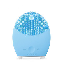 Mini Electric Facial Brush Cleaner Silicone Waterproof Ultrasonic Instrument Facial Skin Care Spa Massager Beauty Tool Device