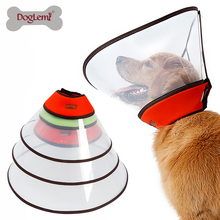 Large Pet Cats Dogs Elizabethan Collar for Wound Healing Remedy Recovery Protective Anti Bite E- Supplies