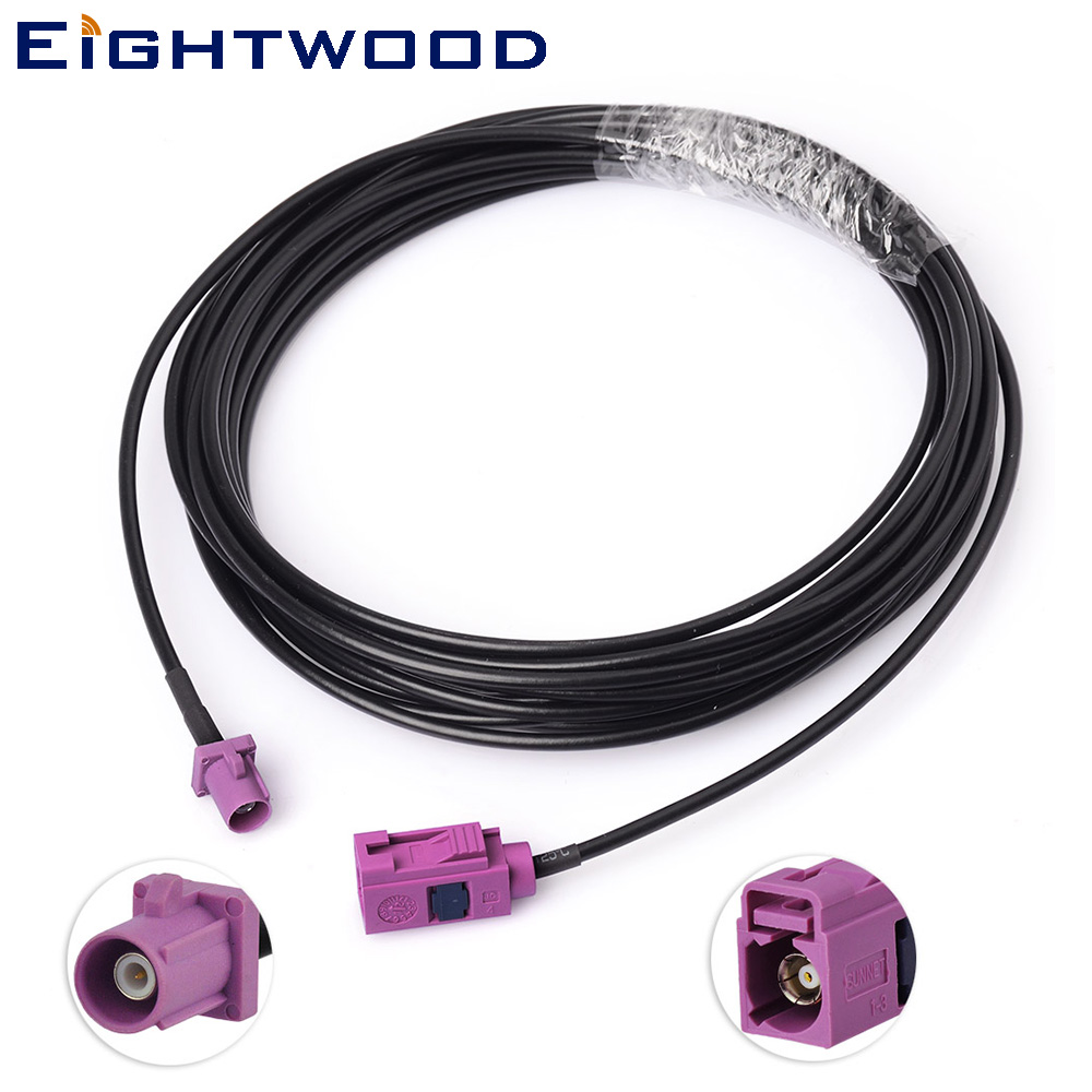 Eightwood 16 Feet Fakra truck/RV satellite radio antenna extension cable for SKYFi SKYFi2 XMD1000 XM Commander