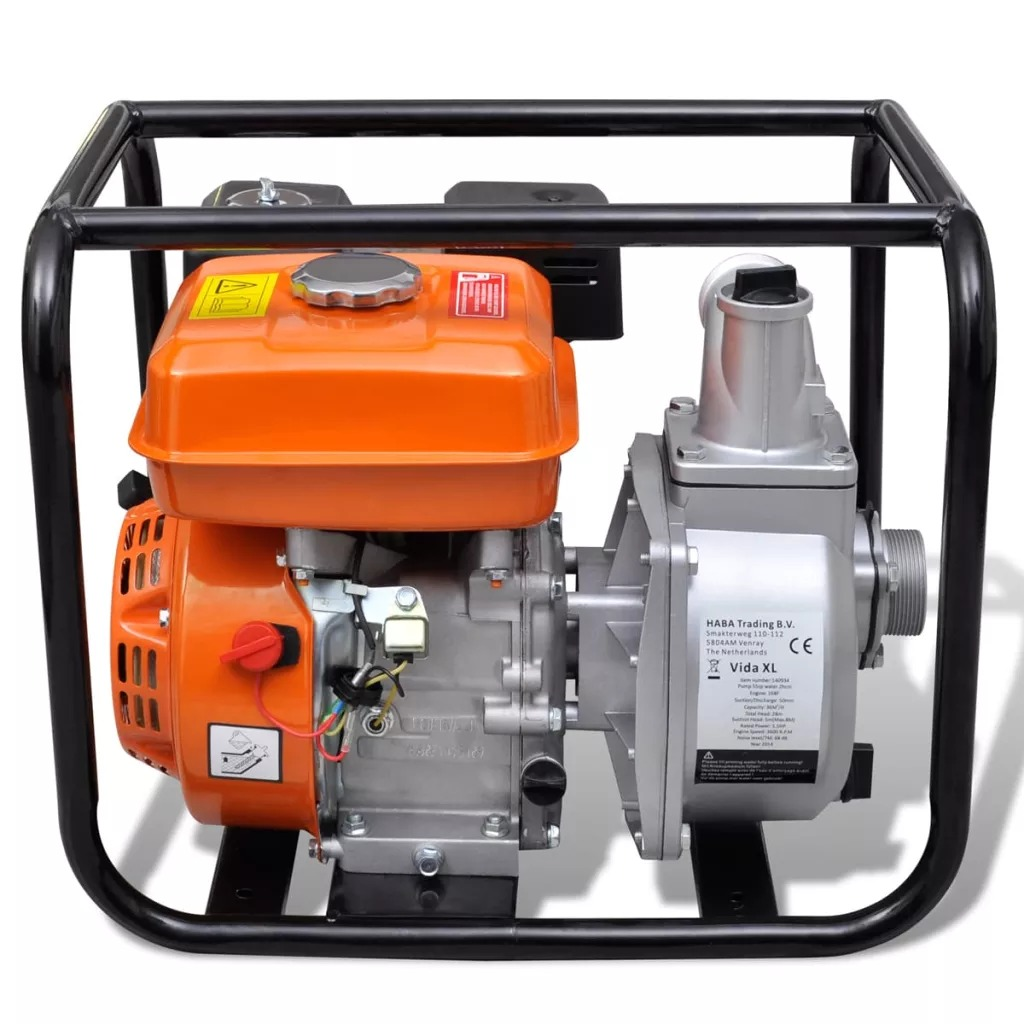 VidaXL Water Pump Motor Petrol 50 MM Connection 5.5 HP Solid Steel Water Pump For Garden Water Supply And Irrigation System