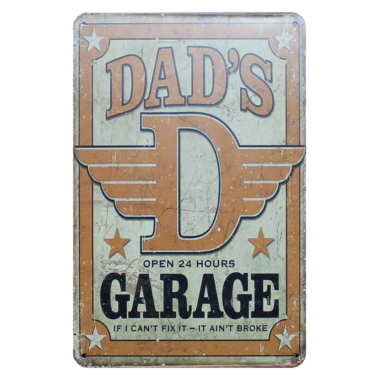 [ Mike86 ] DAD'S GARAGE OPEN 24 HOURS Classic Metal Signs