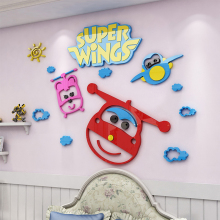 Toys Stickers Super Wings Anime Wall Sticker Bedside Decoration Acrylic Sticker For Children Room For children