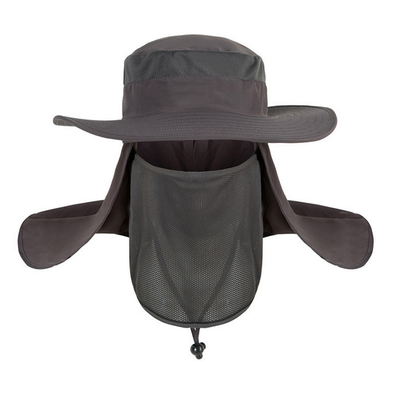 Sombrero de verano con protección UV para cara y cuello, gorra de pesca con protección solar, sombrero para mujer