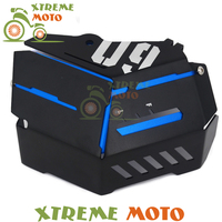 Blue Motorcycle Radiator Water Coolant Resevoir Tank Bezel Side Protect Cover Grill Guard For MT09 MT 09 FZ09 FZ 09 14 15 16