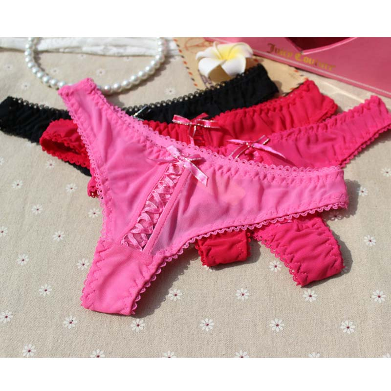 Women Sexy Lace Cotton fantasia G-string Thong Panties Hot Sale Lady Erotic Floral Underwears Briefs Free