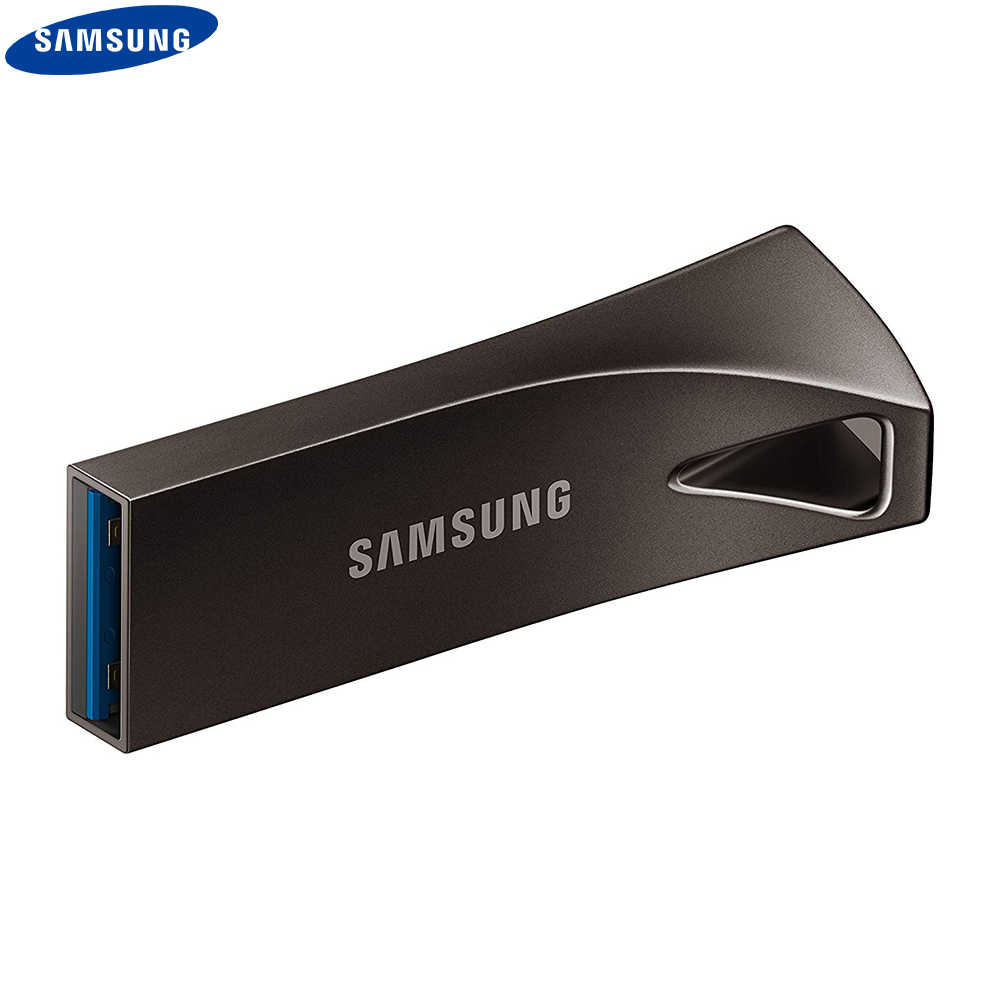 SAMSUNG USB 3,1 Flash Drive 32gb 64gb sdxc de 128gb 256GB USB3.1 hasta 300 MB/S BAR PLUS disco de memoria flash plata/gris