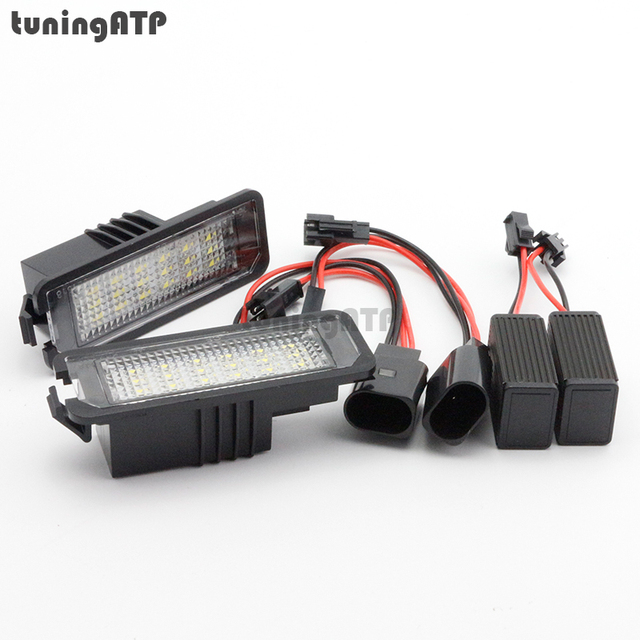 Bright White 18 SMD LED License Number Plate Lights for SEAT Leon ...