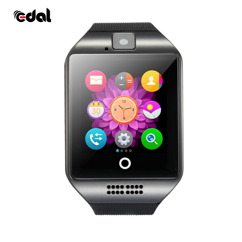 EDAL Bluetooth Smart Watch in Q18 Con La Macchina Fotografica Whatsapp Facebook Twitter Sync SMS SIM carta di Tf di Sostegno Smartwatch Per IOS Android