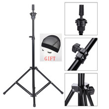 Xtrend Adjustable Tripod Stand Holder Mannequin Head Tripod Hairdressing Training Head Holder Hair Wig Stand Tool(China)