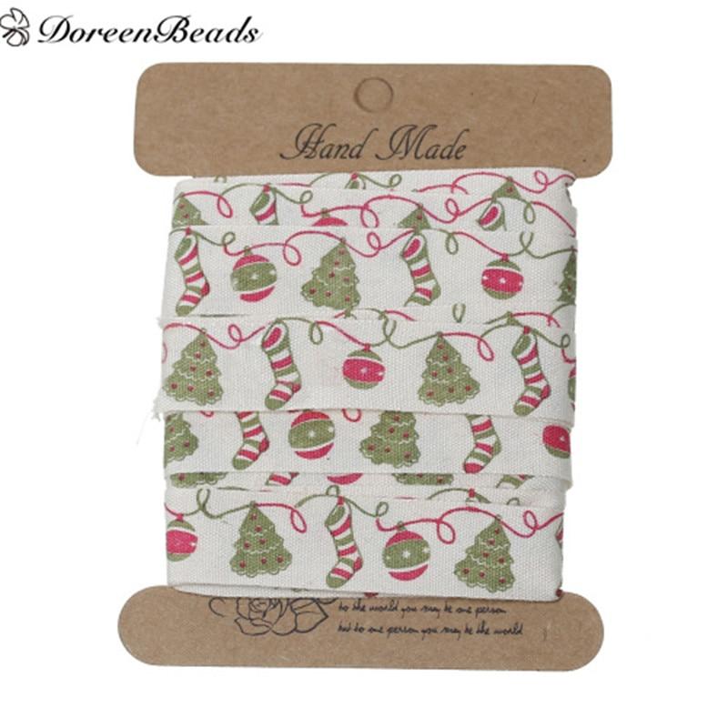 Wonderful Diy Ribbon Beads Christmas Tree: DoreenBeads Cotton Sewing Ribbon Handmade DIY Craft
