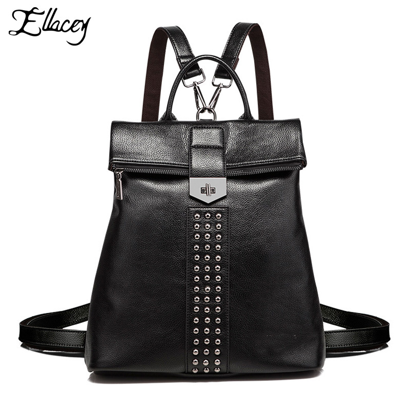 2017 Women s Backpack Superior Quality Leather Travel Backpacks For Women Fashion Travel Backpack College Girls