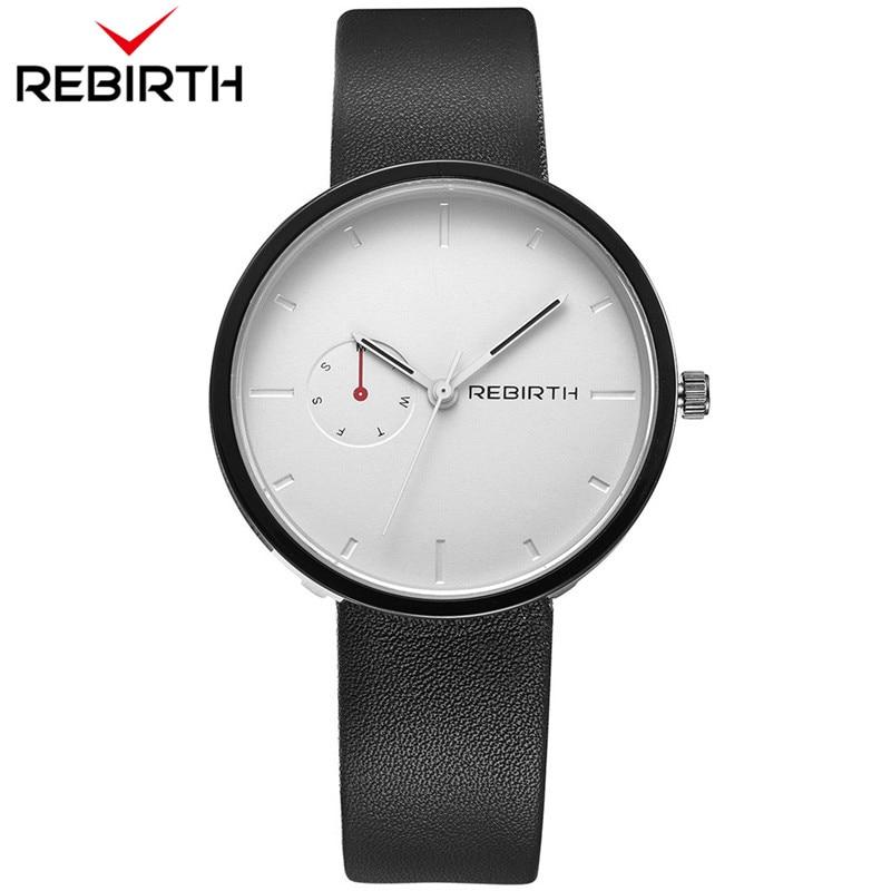 2018 Rebirth Popular Men Women Watches Lovers Casual Mens Ladies Top Brand Luxury Quartz Leather Strap Clock Male Wristwatch